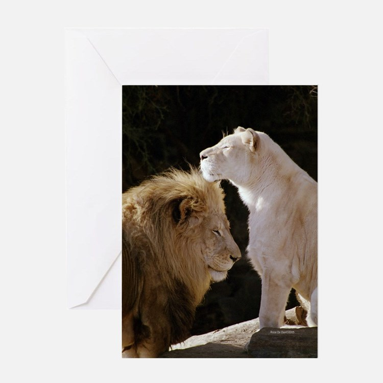 Lions Yin Yang Greeting Card