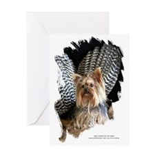 Wild Yorkie on the Wing Greeting Card