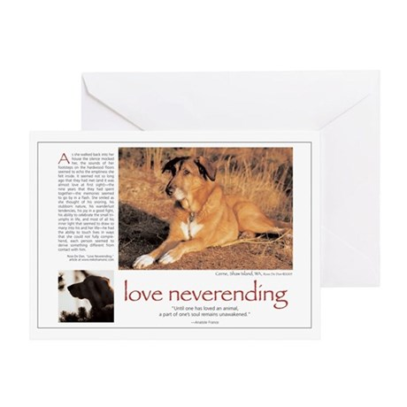 Love Neverending Dog Greeting Card