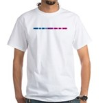 Bisexual Morse Bar White T-Shirt