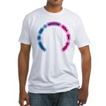 Bisexual Morse Arc Fitted T-Shirt