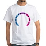 Bisexual Morse Arc White T-Shirt