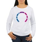 Bisexual Morse Arc Women's Long Sleeve T-Shirt