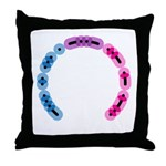 Bisexual Morse Arc Throw Pillow