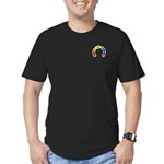 Gay Pocket Morse Men's Fitted T-Shirt (dark)