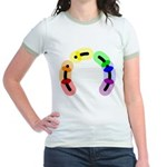 Gay Morse Arc Jr. Ringer T-Shirt