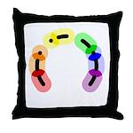 Gay Morse Arc Throw Pillow