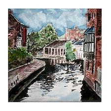 River canal England cityscape Tile Coaster