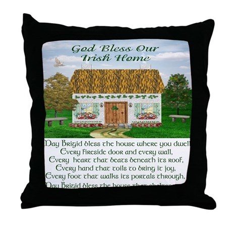 House Blessing (Brigid) Throw Pillow