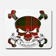 Graham Tartan Skull Mousepad