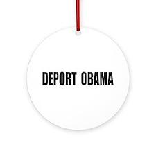 Deport Obama Ornament (Round)