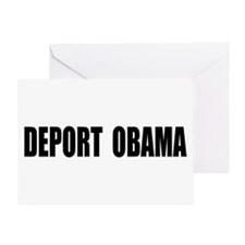 Deport Obama Greeting Card