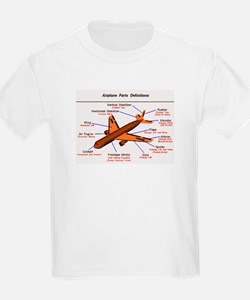 Airplane Parts Kids T-Shirt