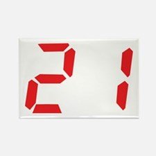 21 twenty-one red alarm clock Rectangle Magnet