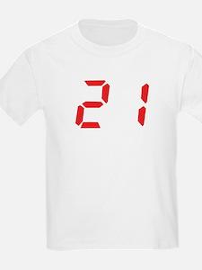 21 twenty-one red alarm clock T-Shirt