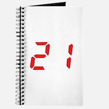 21 twenty-one red alarm clock Journal