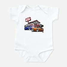 Dodge Challenger Gas Station Scene Infant Bodysuit