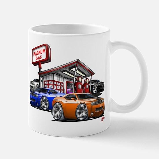 Dodge Challenger Gas Station Scene Mug