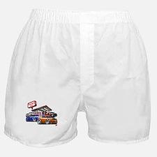 Dodge Challenger Gas Station Scene Boxer Shorts