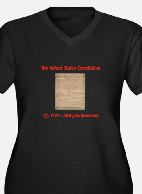 Protect OUR Constitution! Women's Plus Size V-Neck