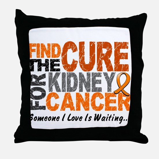 Find The Cure 1 KIDNEY CANCER Throw Pillow