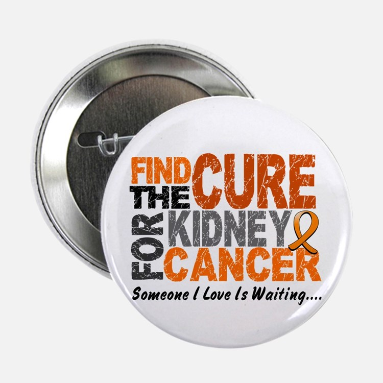 "Find The Cure 1 KIDNEY CANCER 2.25"" Button (10 pac"