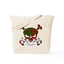 Grant Tartan Skull Tote Bag