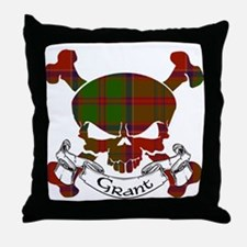 Grant Tartan Skull Throw Pillow