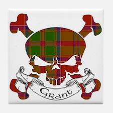 Grant Tartan Skull Tile Coaster