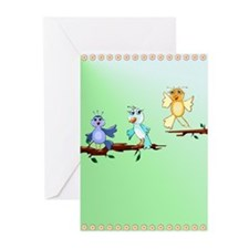 Spring Birds Greeting Cards (Pk of 20)