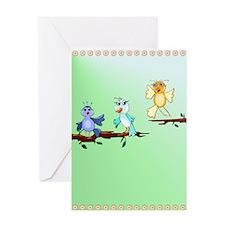 Spring Birds Greeting Card