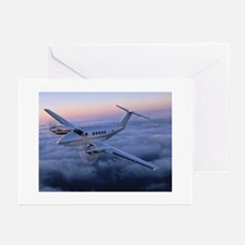 King Air in Flight Greeting Cards (Pk of 10)