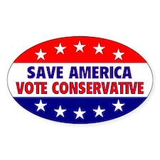 Save America Oval Bumper Stickers