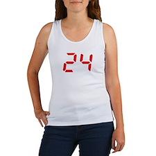 24 twenty-four red alarm cloc Women's Tank Top