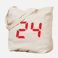 24 twenty-four red alarm cloc Tote Bag