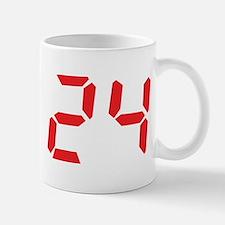 24 twenty-four red alarm cloc Mug