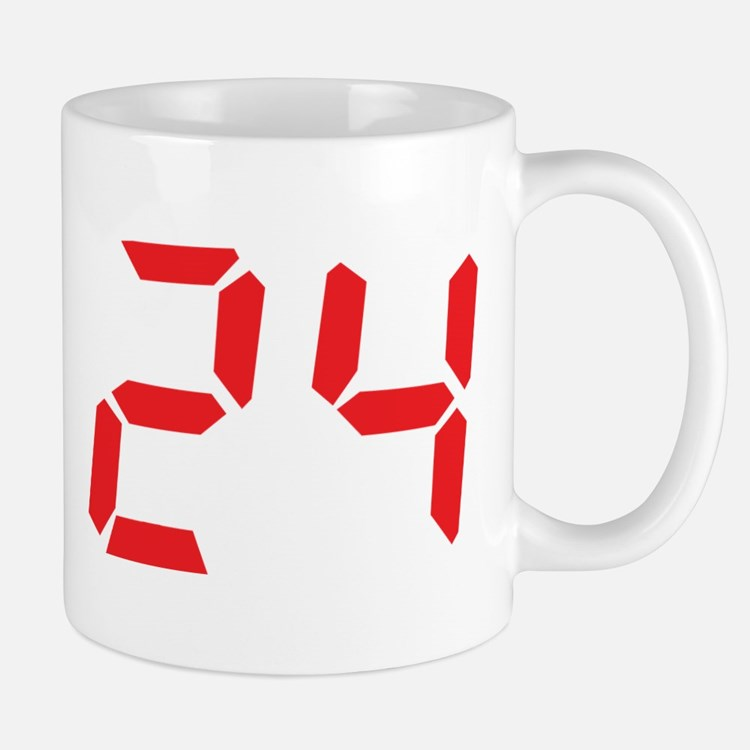24 twenty-four red alarm cloc Mug