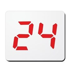 24 twenty-four red alarm cloc Mousepad