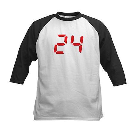 24 twenty-four red alarm cloc Kids Baseball Jersey