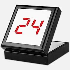 24 twenty-four red alarm cloc Keepsake Box