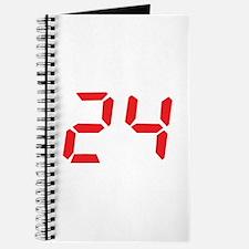 24 twenty-four red alarm cloc Journal