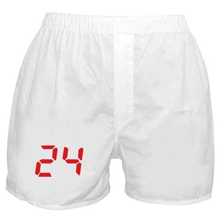 24 twenty-four red alarm cloc Boxer Shorts