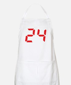 24 twenty-four red alarm cloc BBQ Apron