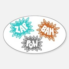 Comic Sound FX - Blue Orng Grey Oval Decal
