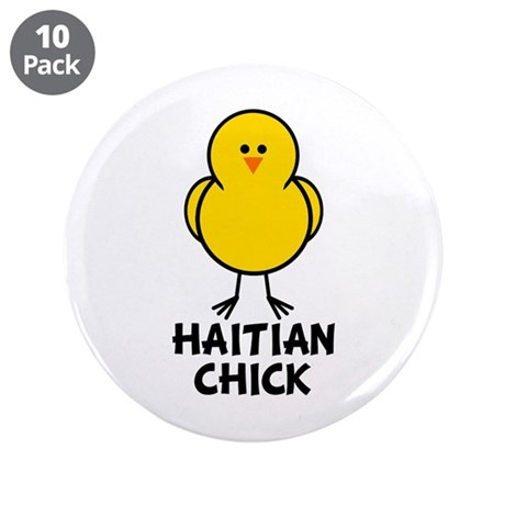 """Haitian Chick 3.5"""" Button (10 pack)"""