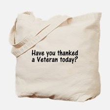 Thank You Veterans Tote Bag