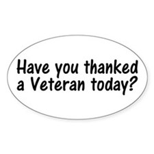 Thank You Veterans Oval Decal