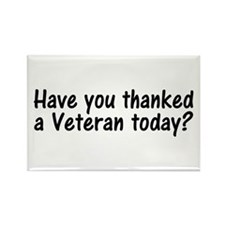 Thank You Veterans Rectangle Magnet