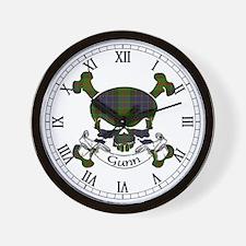 Gunn Tartan Skull Wall Clock