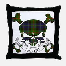 Gunn Tartan Skull Throw Pillow